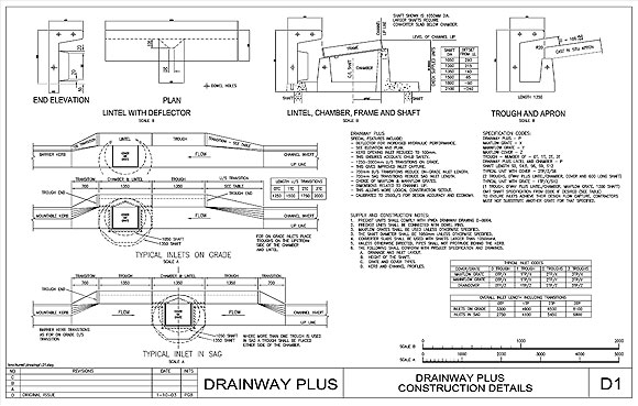 Drainage design drainage grates stormwater grates max q for Drainage drawings for my house